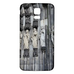 Cologne Cathedral Entrance Statues Samsung Galaxy S5 Back Case (White) by stineshop