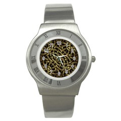 Ancient Arabesque Stone Ornament Stainless Steel Watch (slim)
