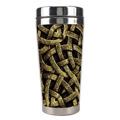 Ancient Arabesque Stone Ornament Stainless Steel Travel Tumbler by dflcprints