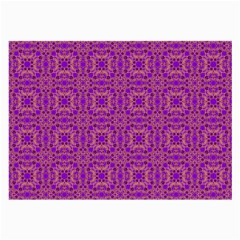 Purple Moroccan Pattern Glasses Cloth (large, Two Sided) by SaraThePixelPixie