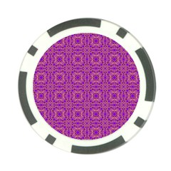 Purple Moroccan Pattern Poker Chip (10 Pack) by SaraThePixelPixie