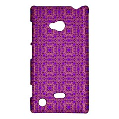 Purple Moroccan Pattern Nokia Lumia 720 Hardshell Case by SaraThePixelPixie