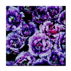 Purple Wildflowers Of Hope Ceramic Tile by FunWithFibro