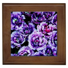 Purple Wildflowers Of Hope Framed Ceramic Tile by FunWithFibro