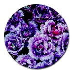Purple Wildflowers Of Hope 8  Mouse Pad (Round)