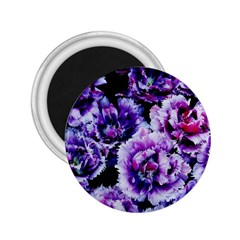 Purple Wildflowers Of Hope 2.25  Button Magnet