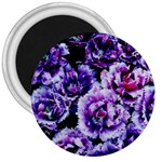 Purple Wildflowers Of Hope 3  Button Magnet