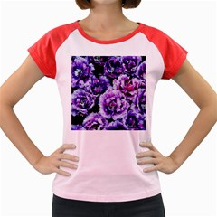 Purple Wildflowers Of Hope Women s Cap Sleeve T-Shirt (Colored)