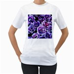 Purple Wildflowers Of Hope Women s Two-sided T-shirt (White)