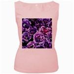 Purple Wildflowers Of Hope Women s Tank Top (Pink)