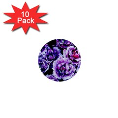 Purple Wildflowers Of Hope 1  Mini Button Magnet (10 pack)