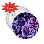 Purple Wildflowers Of Hope 2.25  Button (10 pack)
