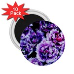 Purple Wildflowers Of Hope 2.25  Button Magnet (10 pack)