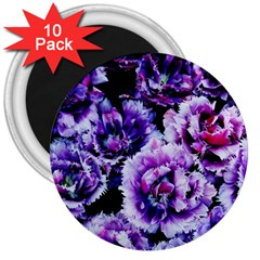 Purple Wildflowers Of Hope 3  Button Magnet (10 pack)