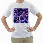 Purple Wildflowers Of Hope Men s Two-sided T-shirt (White)