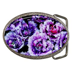 Purple Wildflowers Of Hope Belt Buckle (oval) by FunWithFibro