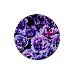 Purple Wildflowers Of Hope Drink Coaster (round) by FunWithFibro