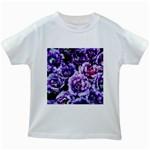 Purple Wildflowers Of Hope Kids T-shirt (White)