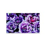 Purple Wildflowers Of Hope Sticker (Rectangle)