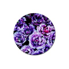 Purple Wildflowers Of Hope Magnet 3  (Round)