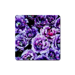 Purple Wildflowers Of Hope Magnet (Square)
