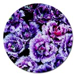Purple Wildflowers Of Hope Magnet 5  (Round)