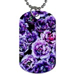 Purple Wildflowers Of Hope Dog Tag (One Sided)