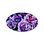 Purple Wildflowers Of Hope Sticker 10 Pack (Oval)