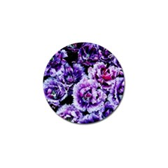 Purple Wildflowers Of Hope Golf Ball Marker 4 Pack by FunWithFibro
