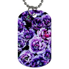 Purple Wildflowers Of Hope Dog Tag (Two-sided)