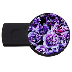Purple Wildflowers Of Hope 2gb Usb Flash Drive (round) by FunWithFibro