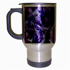 Purple Wildflowers Of Hope Travel Mug (silver Gray) by FunWithFibro