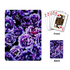 Purple Wildflowers Of Hope Playing Cards Single Design