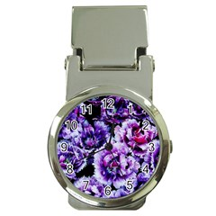 Purple Wildflowers Of Hope Money Clip with Watch