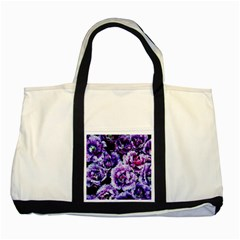 Purple Wildflowers Of Hope Two Toned Tote Bag