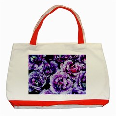 Purple Wildflowers Of Hope Classic Tote Bag (Red)