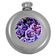 Purple Wildflowers Of Hope Hip Flask (Round)