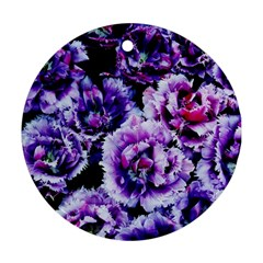 Purple Wildflowers Of Hope Round Ornament (Two Sides)