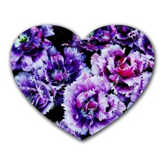 Purple Wildflowers Of Hope Mouse Pad (Heart)