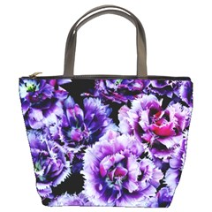 Purple Wildflowers Of Hope Bucket Handbag by FunWithFibro
