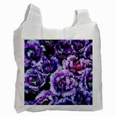 Purple Wildflowers Of Hope White Reusable Bag (One Side)