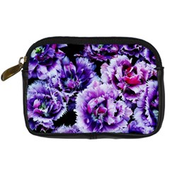 Purple Wildflowers Of Hope Digital Camera Leather Case by FunWithFibro