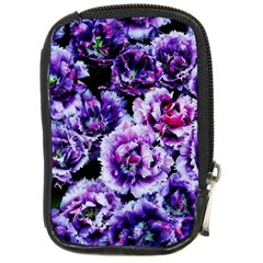 Purple Wildflowers Of Hope Compact Camera Leather Case