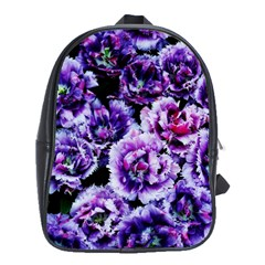 Purple Wildflowers Of Hope School Bag (large) by FunWithFibro