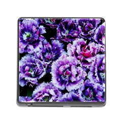 Purple Wildflowers Of Hope Memory Card Reader with Storage (Square)