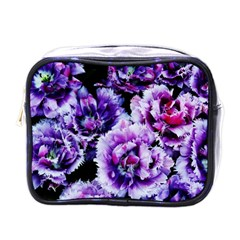 Purple Wildflowers Of Hope Mini Travel Toiletry Bag (one Side) by FunWithFibro