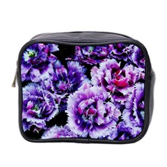 Purple Wildflowers Of Hope Mini Travel Toiletry Bag (Two Sides)