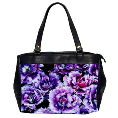 Purple Wildflowers Of Hope Oversize Office Handbag (Two Sides)