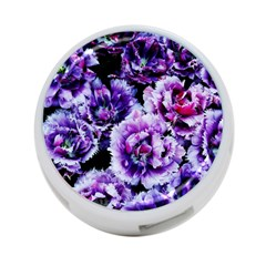 Purple Wildflowers Of Hope 4 Port Usb Hub (two Sides) by FunWithFibro