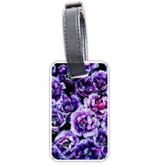 Purple Wildflowers Of Hope Luggage Tag (two Sides) by FunWithFibro